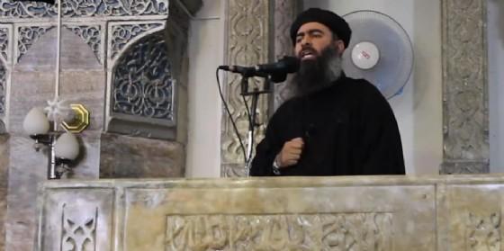 Il Califfo Abu Bakr al-Baghdadi. (© ANSA/ WEB/ YOUTUBE)