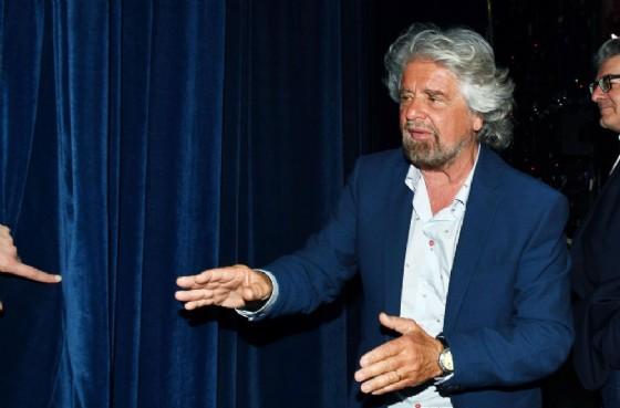 Il leader del Movimento 5 stelle, Beppe Grillo (© ANSA/ ANTONINO DI MARCO)