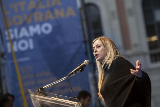 La leader di Fratelli d'Italia, Giorgia Meloni (© ANSA/MASSIMO PERCOSSI)