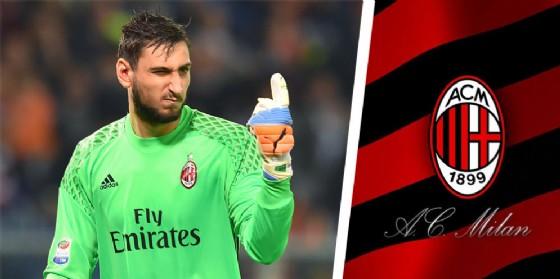 Gigio Donnarumma con la maglia del Milan (© Ansa)