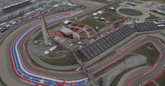 Una vista dall'alto del circuito di Austin
