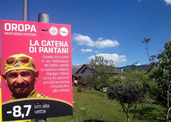 Uno dei cartelli che si trova per andare ad Oropa (© Comune di Biella)