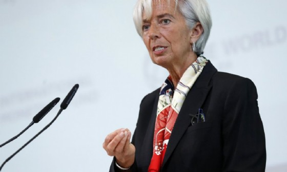 La direttrice del Fmi, Christine Lagarde. (© ANSA/ EPA FELIPE TRUEDA)