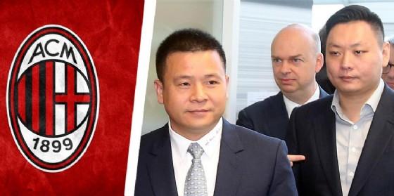 Li Yonghong, Han Li e Marco Fassone alle loro spalle