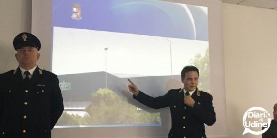 La Polizia di Stato presenta l'operazione contro i furti di pannelli (© Diario di Udine)