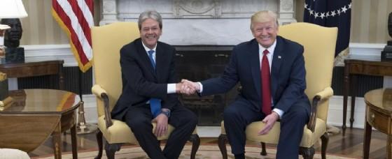Il presidente Donald Trump e il premier Paolo Gentiloni.