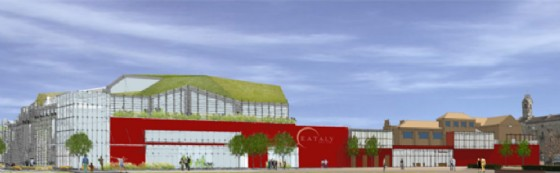 Il rendering del Green Retail Park, proprio accanto a Eataly (© Comune Torino)