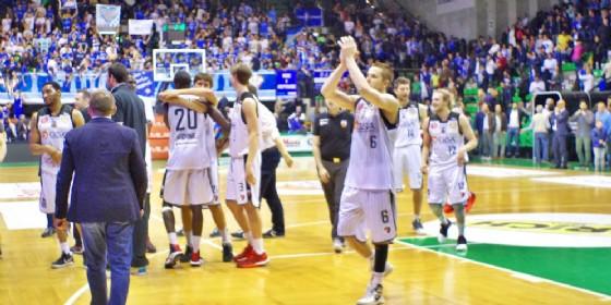 Si festeggia dopo la vittoria di Treviso (© Diario di Udine)