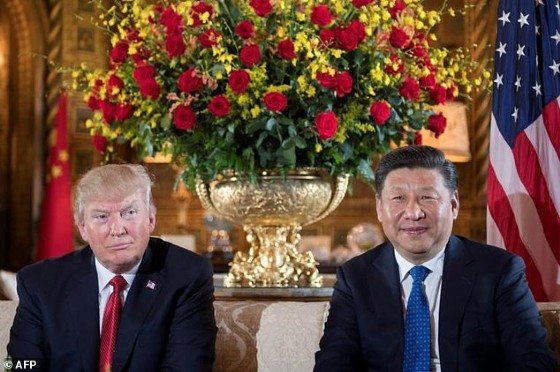 After a meeting with with Chinese President Xi Jinping, President Donald Trump (L) says the US could solve the North Korean «problem» without China