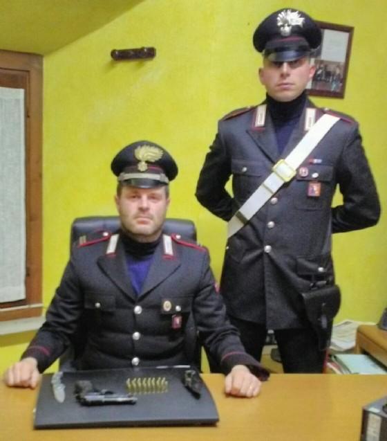 Armi e proiettili sequestrati dai carabinieri
