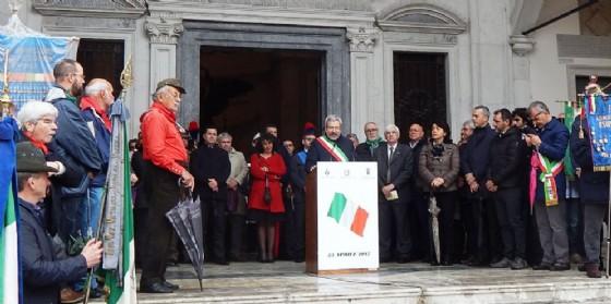 Il sindaco Honsell durante la cerimonia (© Comune Ud)