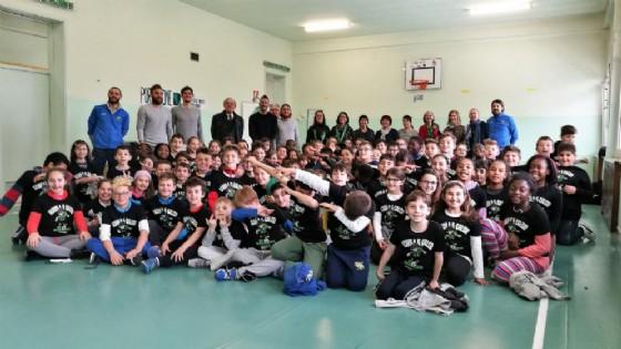 I ramarri vanno a scuola: l'incontro con 220 alunni della Rosmini (© Pordenone Calcio)