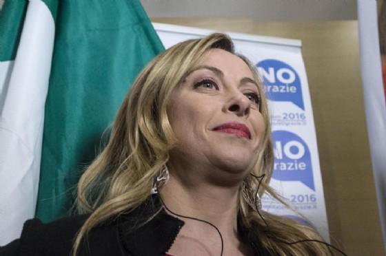 La leader di FdI, Giorgia Meloni (© ANSA/ANGELO CARCONI)