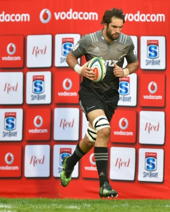 The Canterbury Crusaders' Sam Whitelock, seen ahead of their Super Rugby match against the Central Cheetahs, at the Bloemfontein stadium in South Africa, on April 29, 2017