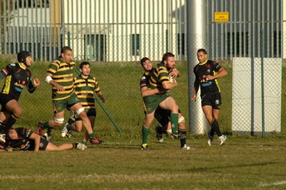 Un momento della gara di andata (foto Socco) (© Biella Rugby)