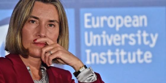 La responsabile per la Politica estera dell'Ue Federica Mogherini