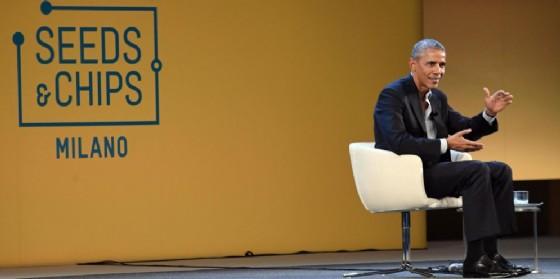 L'ex presidente Barack Obama al convegno Seeds & Chips a Milano