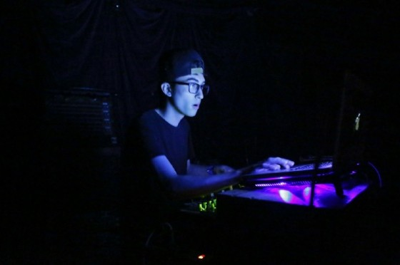 DJ Tsimba plays  during a Lights Out concert at The Knitting Factory in Brooklyn New York on May 12, 2017