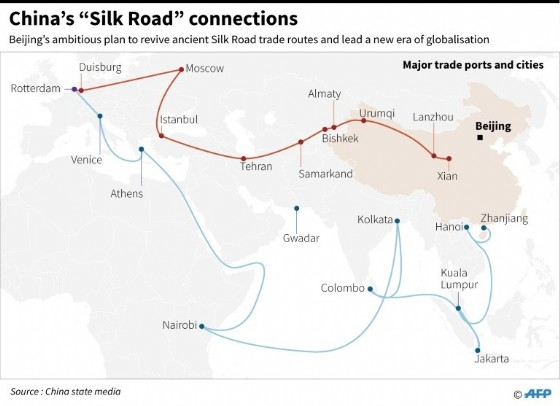 """China """"Silk Road"""" connections"""