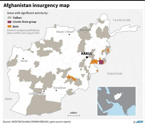 Afghanistan insurgency map