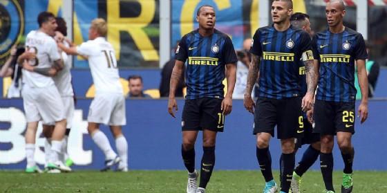 Un'immagine del recente derby tra Inter e Milan (© Ansa)