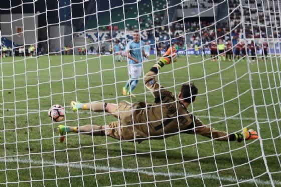 Il portiere spagnolo Diego Lopez con la maglia del Milan