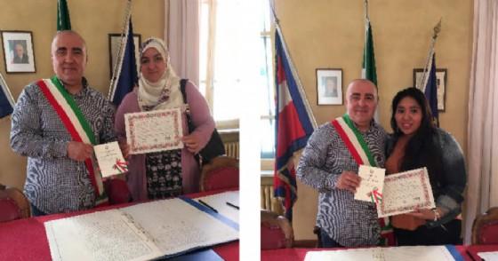 Toni Filoni e le due nuove italiane (© Comune di Mongrando)