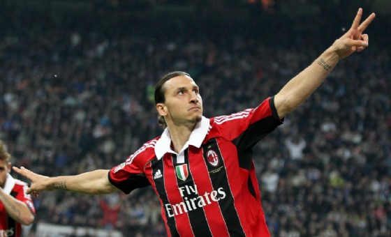 Zlatan Ibrahimovic ha giocato nel Milan nelle stagioni 2010-2011 e 2011-2012