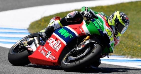 Aleix Espargaro in azione sulla sua RS-GP