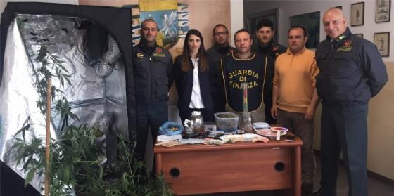 Serra di marijuana scoperta in una casa di fronte ai Lidi (© Gdf)