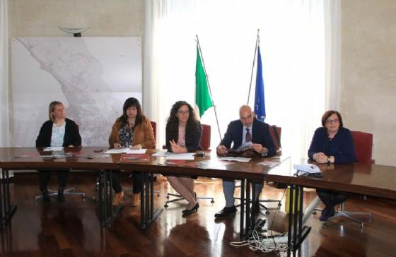 """Un momento della presentazione dell'iniziativa """"VisitiAMO il Municipio"""" (© Comune di Trieste)"""