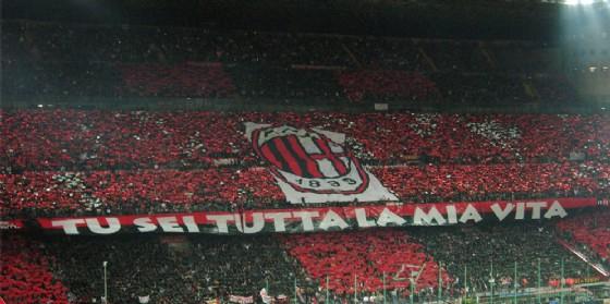 La Curva Sud del Milan piena di affezionati rossoneri