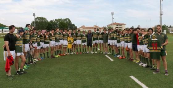 La squadra biellese (foto Socco) (© Biella Rugby)