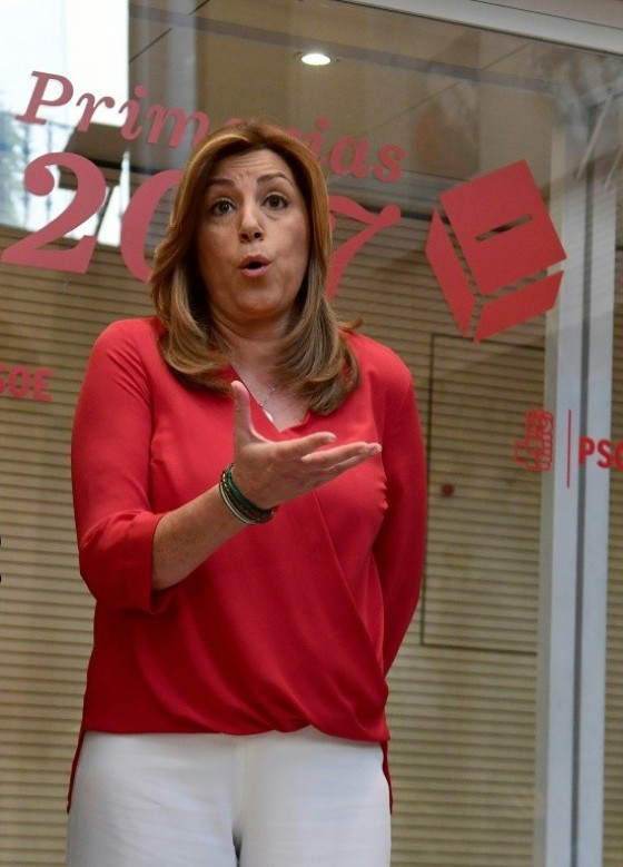 Susana Diaz enjoys backing from the bulk of the Socialist Party's leaders, including former prime ministers, Felipe Gonzalez and Jose Luis Rodriguez Zapatero
