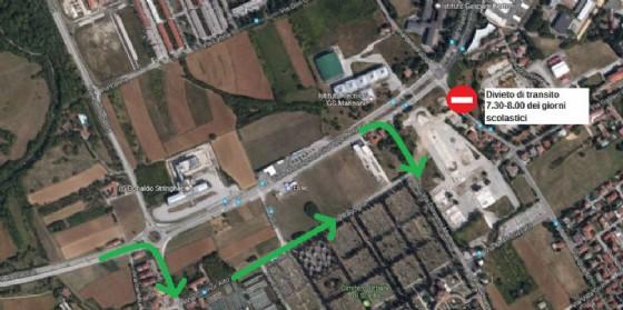 Terminal studenti in via della Faula: alcuni tratti saranno vietati alle auto (© Comune Ud)