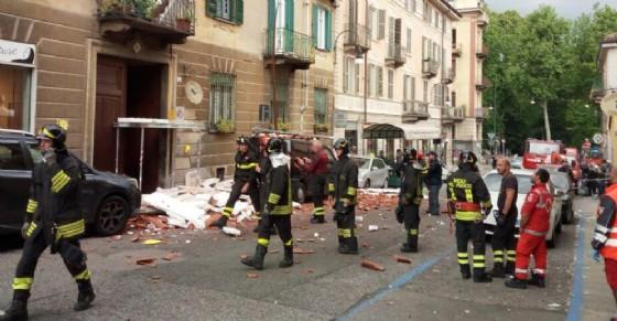Crollo in via Romani (© Diario di Torino)