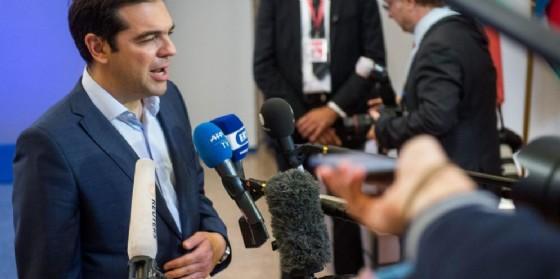 Il premier greco, Alexis Tsipras. (© ANSA/STEPHANIE LECOCQ)