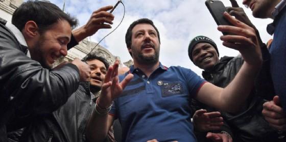 Il leader della Lega Nord, Matteo Salvini. (© ANSA/DANIEL DAL ZENNARO)