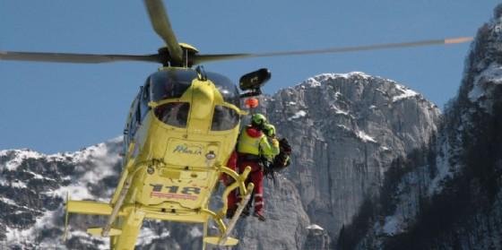 Intervento del Soccorso Alpino nel gruppo del Jof Fuart (© Carlo Orzan)