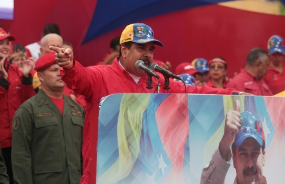President Nicolas Maduro, pictured in April 2017, has been blamed by the opposition for shortages of food and medicine and accuse him of trying to cling to power