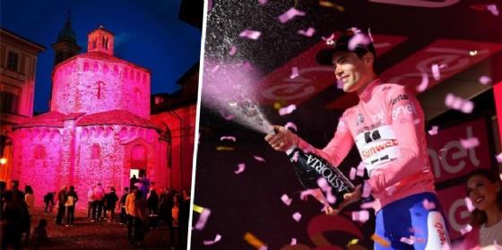 Battistero in rosa e vincitore della tappa di Oropa (© Diario di Biella)