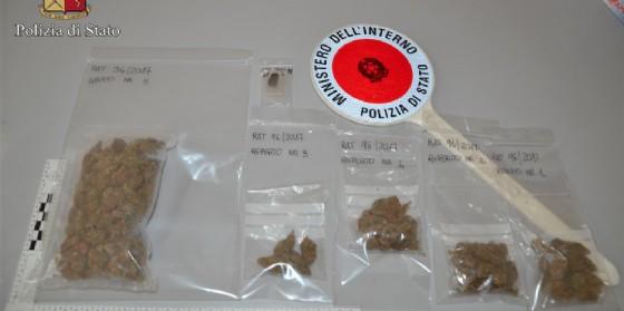 La droga sequestrata dagli agenti della Questura di Biella (© Polizia di Stato)