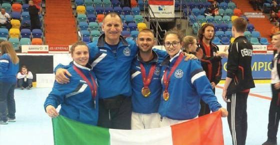 Orgoglio Rivarolo ai campionati di karate in Repubblica Ceca (© Facebook Rem Bu Kan Karate Rivarolo)