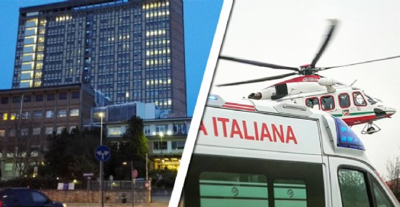 L'elisoccorso ha trasportato il ferito al Cto (© Diario di Torino)