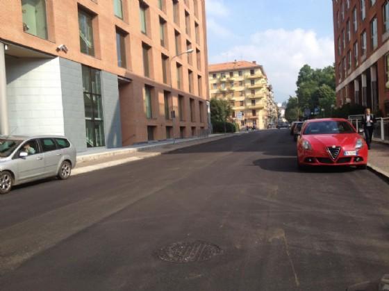 Il tratto di strada interessato dai lavori (© Diario di Biella)