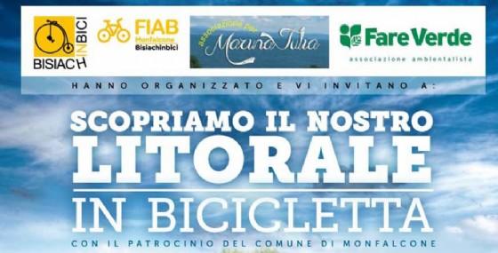 """""""Scopriamo il nostro litorale in bicicletta"""", l'evento alla Marina Julia di Monfalcone (© Fiab Monfalcone Bisiachinbici)"""