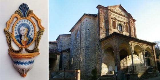 Un acquasantino e l'oratorio di San Rocco (© DocBi-Centro Studi Biellesi)
