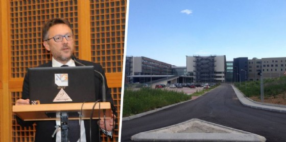 Il direttore dell'Azienda sanitaria locale Bonelli e l'ospedale (© Diario di Biella)