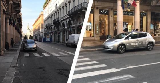Auto della Sindaca Appendino in malasosta (© Mirko Bretto - Torino Sostenibile)
