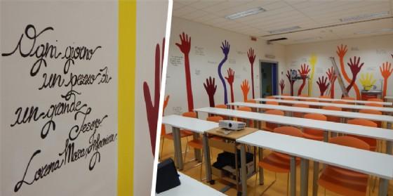 I pensieri dipinti sui muri dagli studenti del liceo artistico di Biella (© Asl Biella)
